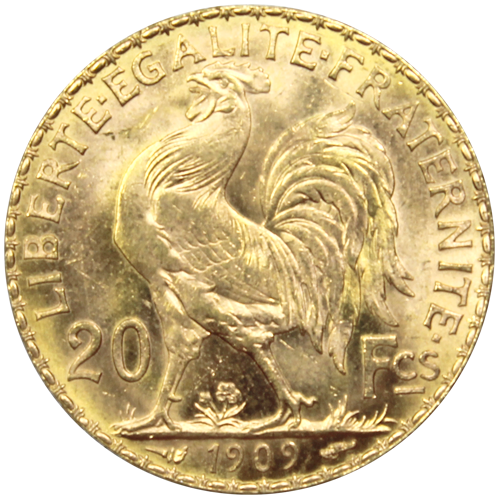 piece de monnaie avec un coq